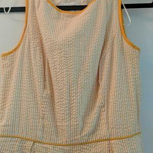 Jessica Simpson Dresses - Orange and white seersucker dress